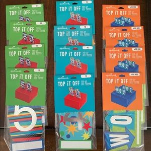 Lot of 12 - Hallmark Gift Toppers Wrapping Embellishments 40 50 WOO-HOO NWT